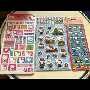 Lot of Hello Kitty Stickers 3 packs